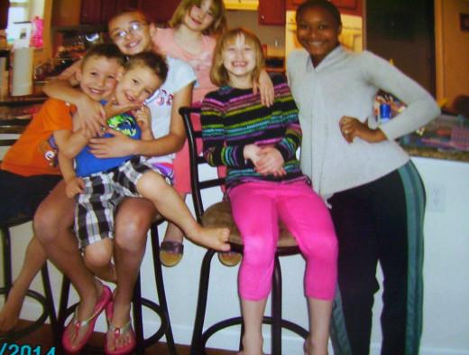 Natasha (visiting), Rachel, Alex, Robert, Hanna and Michelle