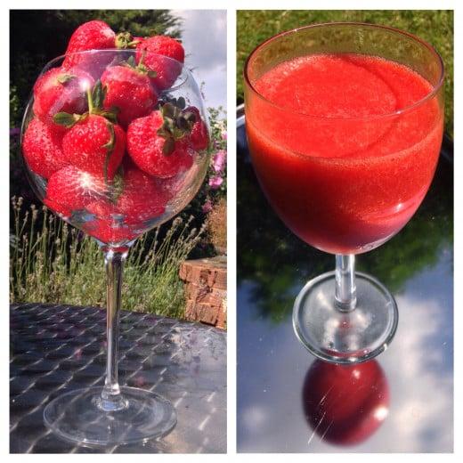 Strawberries and Strawberry Puree