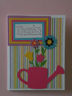 Easy to Make with your Cricut machine - Flowers for you Thank You card