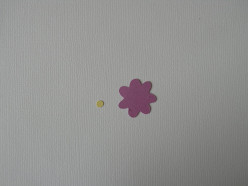 Purple heavy-weight cardstock for small daisy and dot