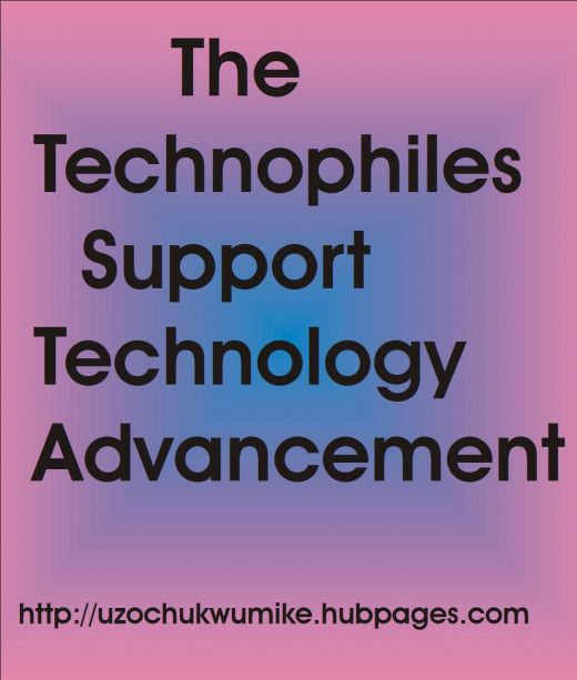 """The technophiles. An illustration explaining the word """"technophiles""""."""