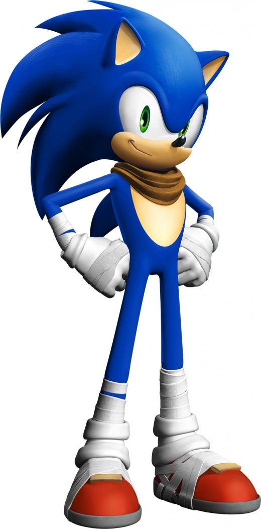 This is how Sonic will look in the Sonic Boom series.