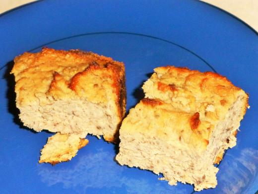 My coconut flour banana bread final product.
