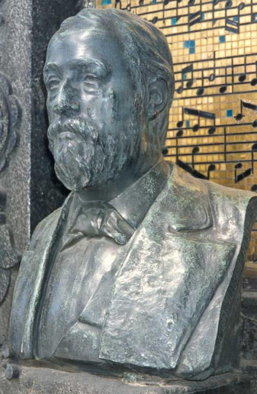 Borodin's Bust at his memorial in St Petersburg