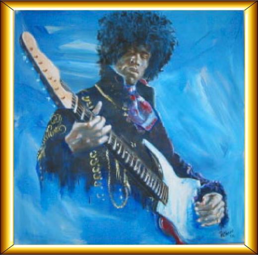 Hendrix.. Acrylic on Canvas