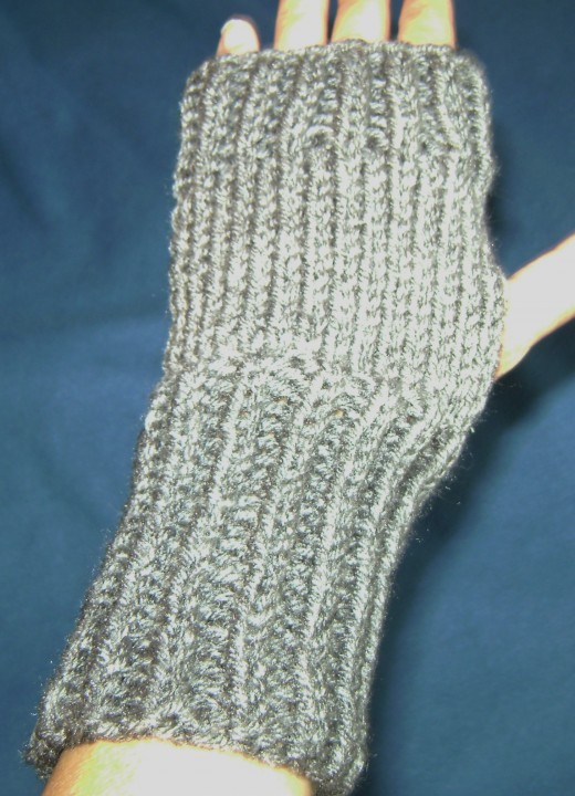 Gandalf-Inspired Mitts in worsted acrylic