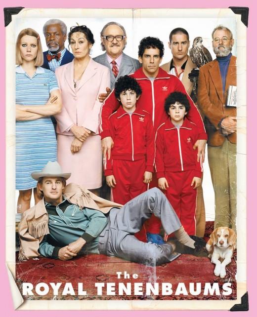 "Gene Hackman, Ben Stiller, Owen Wilson and Bill Murray in ""The Royal Tenenbaums"""