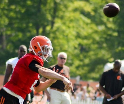 Cleveland Browns QB Johnny Manziel at Browns Training Camp