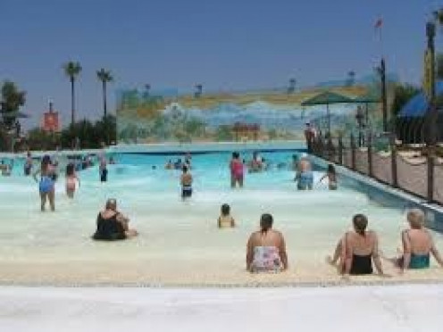 The Billy Taylor water park has many different water attractions including the wave pool which makes ocean loke waves every seven minutes that last for five minute intervals.