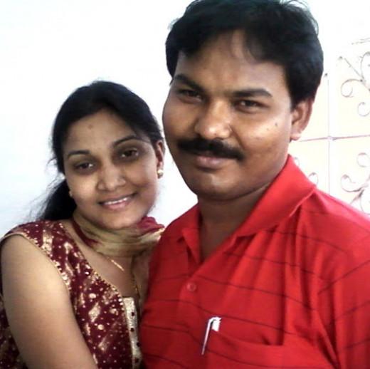 Kishor Senapati with wife Mary