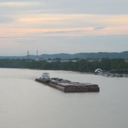 The Ohio River, a great source of commerce