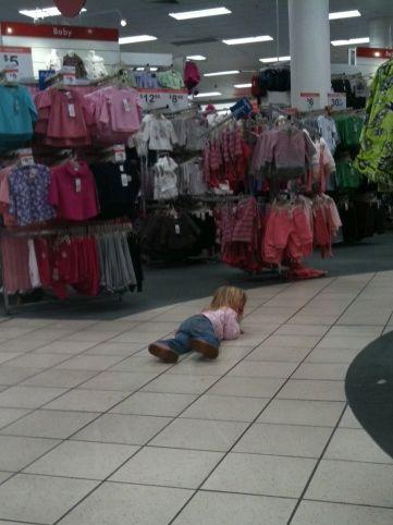 Public temper tantrums can be embarrassing