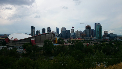 Downtown Calgary from the east.