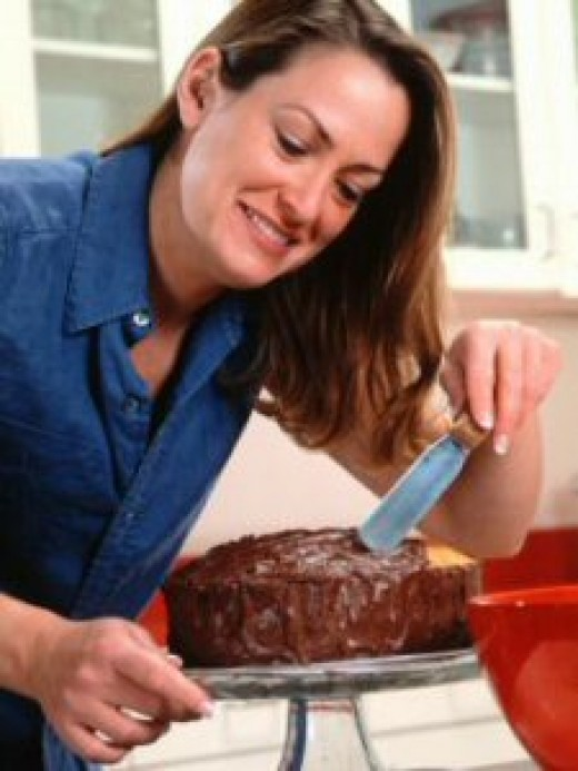 Frosting A Cake
