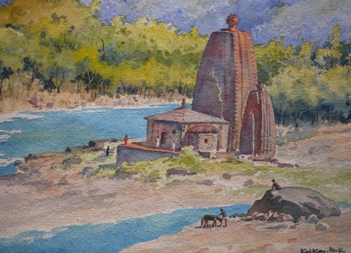 An old painting of Panchvaktra temple at Mandi