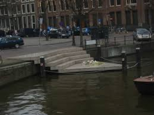 Monument To Gays In Amsterdam