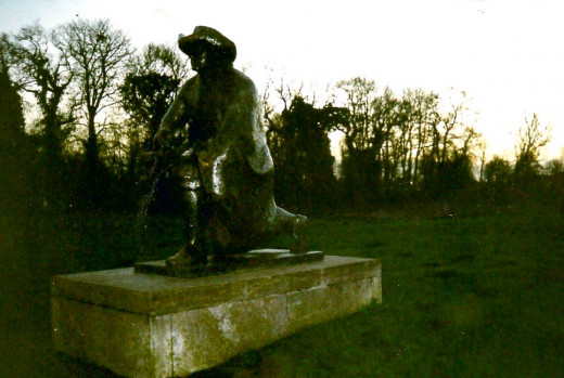 Statue Of The Painter Rembrandt In The Amsterdam Countryside