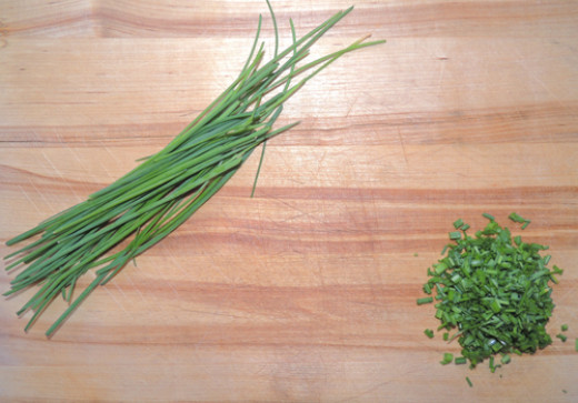 Chives minced--left to right