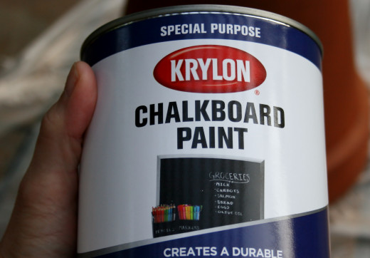 I used a chalkboard paint that was low odor.