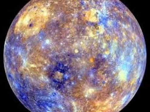 The surface of Planet Mercury. Mercury is the closest planet to the sun and the smallest of the 8 planets in our solar system.