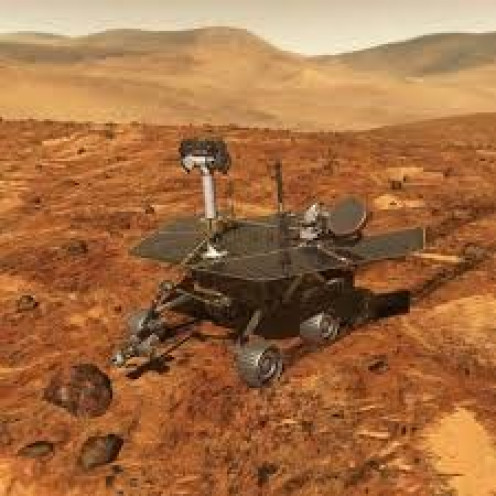 The Mars Pathfinder landed on Mars in 1997 and it's job is to film, take pictures and pick up samples from the surface of the planet.