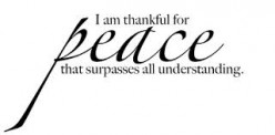My Peace and Understanding Through God