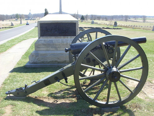 A cannon at Gettysburg National Military Park