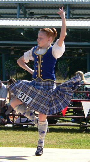 The only traditional kilt attire for women
