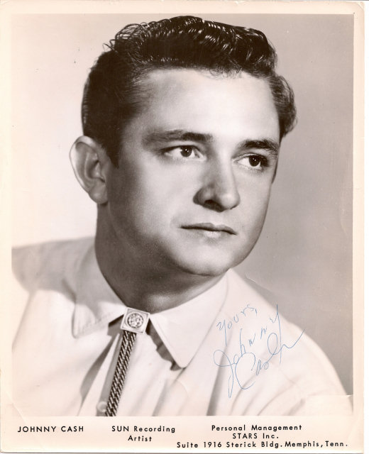 Early Sun Records Promotional Photo of Johnny Cash