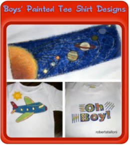 Design and paint t-shirts that are just right for the boys!