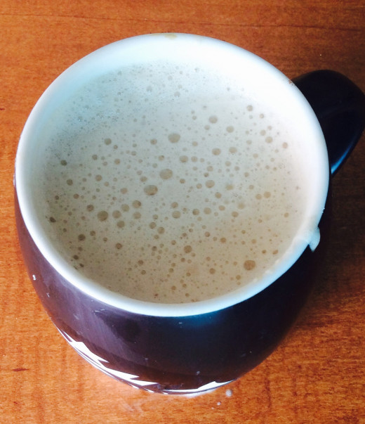 Frothy latte!