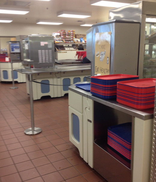 The cafeteria can be a welcome change of location from the classroom.