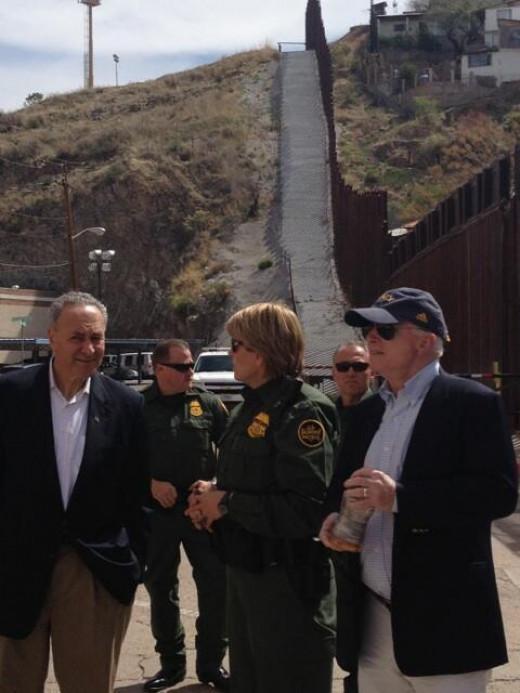 McCain at the border.