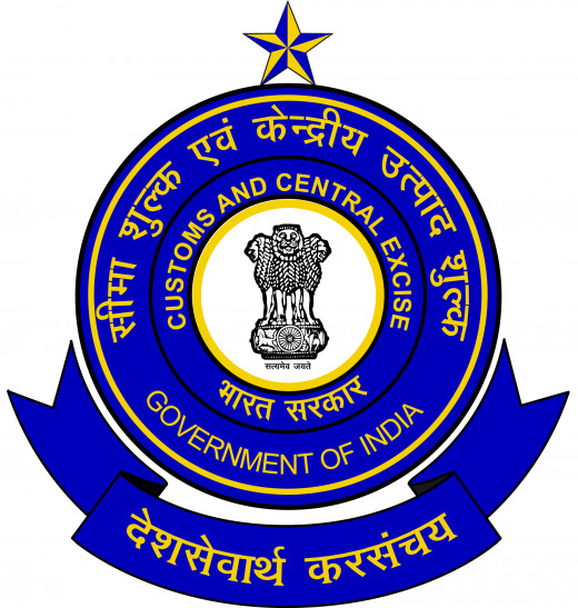 Logo of Customs, Central Excise & Service Tax department in India, Central Government taxes