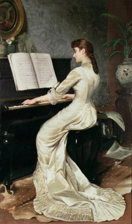 Artist George Hamilton Barrable - A Song Without Words 1888