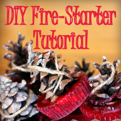 DIY Fire Starters with Pinecones and Candles