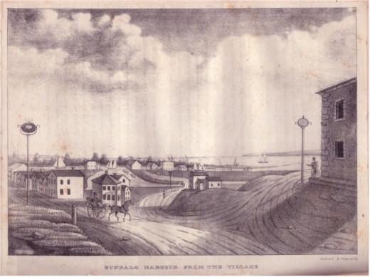 Buffalo Harbor from the village