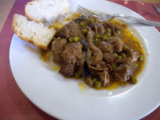 The tastiest meal ever.  A small village high in the Spanish Mountains created this dish.