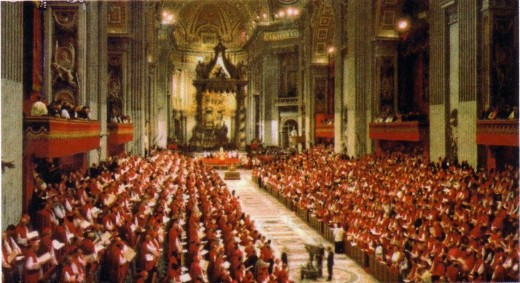 A Vatican II session.