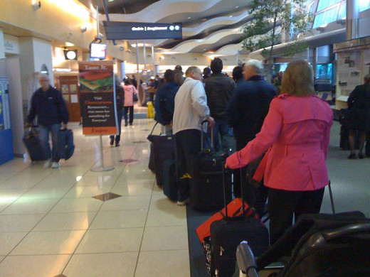 Long check-in lines at the airport are almost a given around Thanksgiving. Plan your time accordingly.
