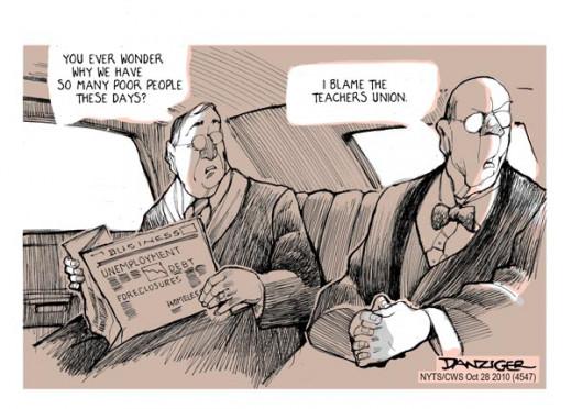 Real Elitists blame the poor.