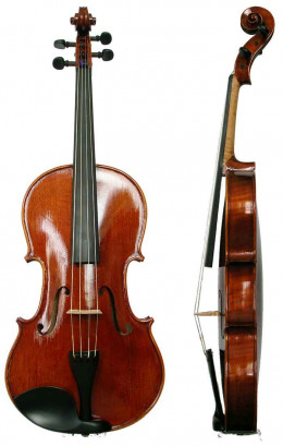A violin, front and side views