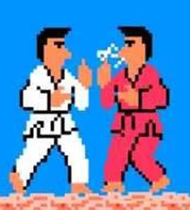In Karate Champ, the goal was to flip the other player the bird and smoke a lot of cigarettes. If you flipped off the other player then kicked him in the nuts, you basically won by default. Take that crap out of your NES and slap in Contra. Please.
