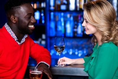 """Young Couple At Bar"" by Stockimages"