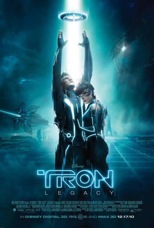 "Jeff Bridges and Garrett Hedlund in ""TRON: Legacy"""