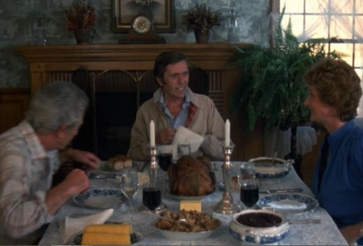 McGee takes David Banner's place at Thanksgiving dinner.
