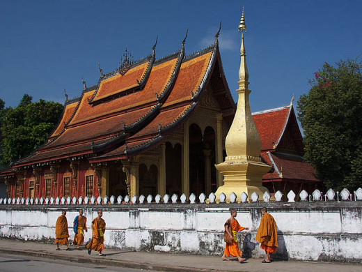 Monks in Luang Prabang.