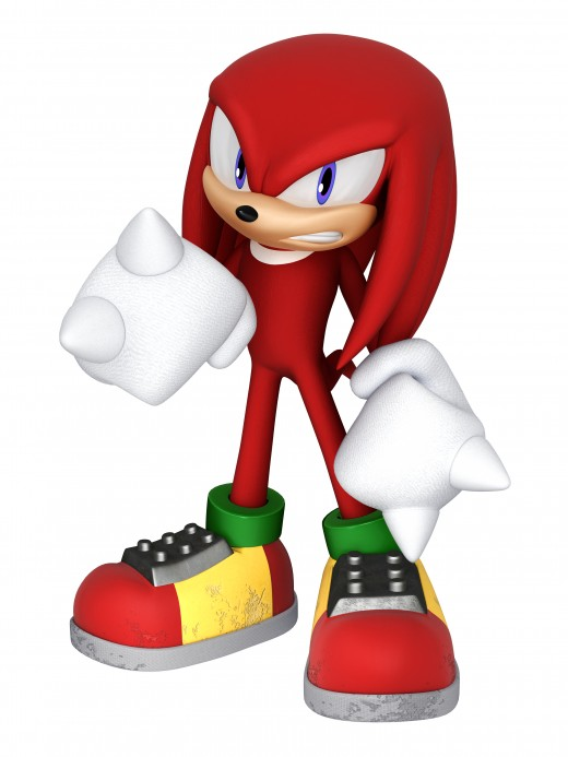 This is how Knuckles the Echidna looks in games today