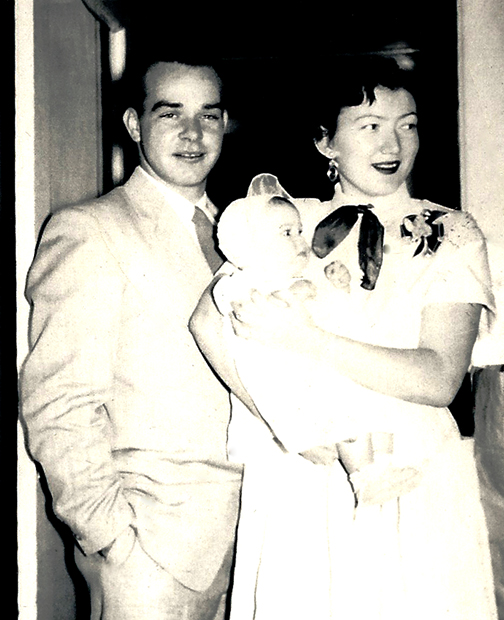 My mother and father with me in 1954.