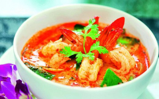 Hot and spicy Tom Yum Goong.